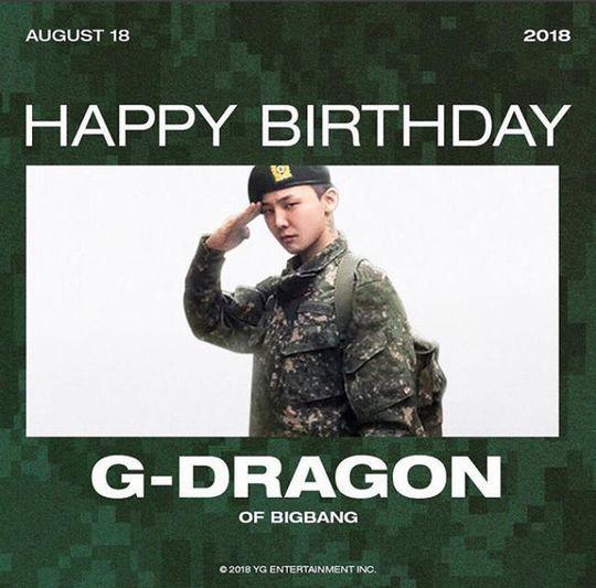 ヤン・ヒョンソクYG代表がG-DRAGONの誕生日を祝福 GDの軍服姿