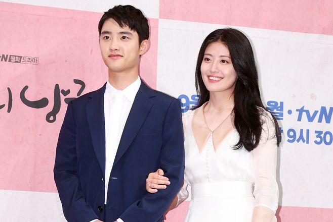 EXOのD.O.&ナム・ジヒョン、ドラマ「100日の郎君様」制作発表会に出席